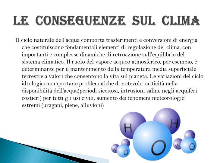 LE  CONSEGUENZE  SUL  CLIMA