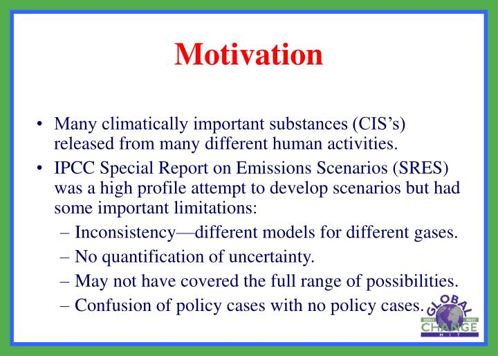 Many climatically important substances (CIS's) released from many different human activities.