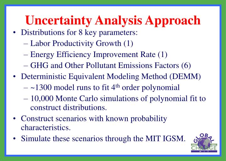 Distributions for 8 key parameters: