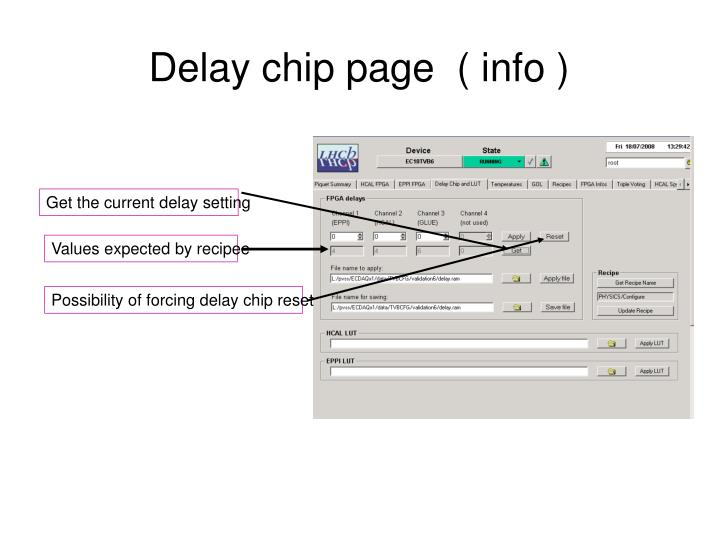 Delay chip page  ( info )