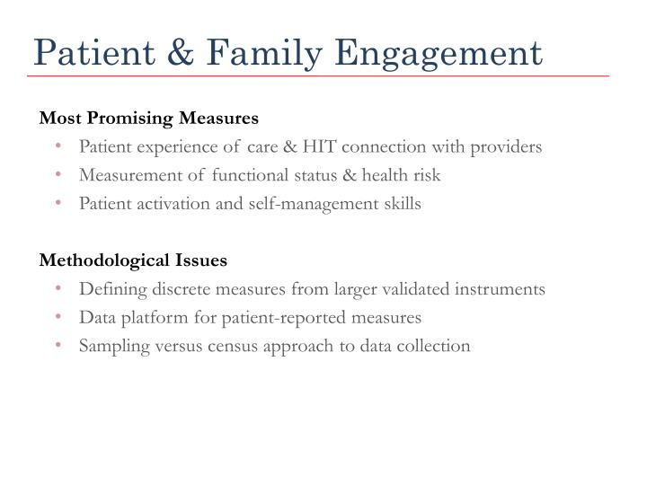 Patient & Family Engagement