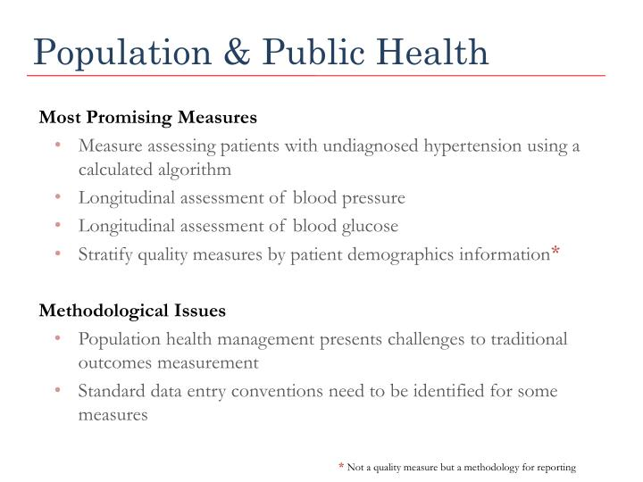 Population & Public Health