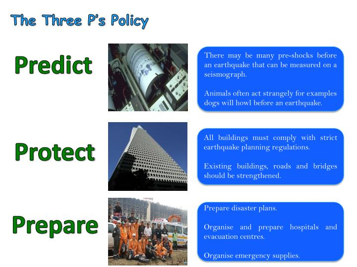 The Three P's Policy