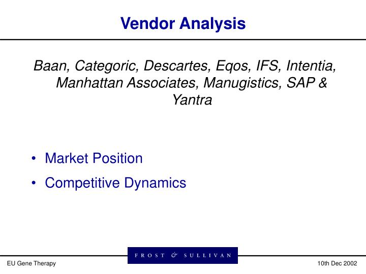 Vendor Analysis