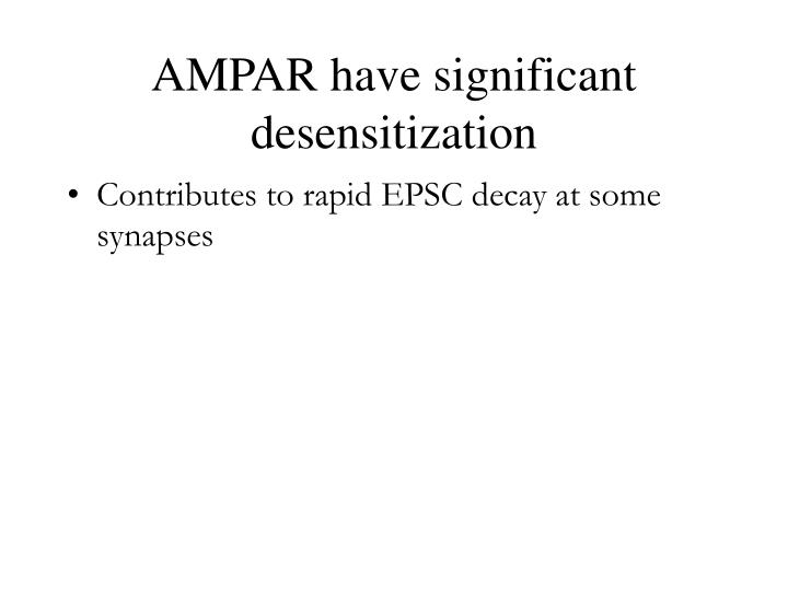 AMPAR have significant desensitization
