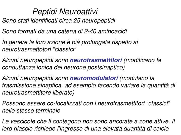 Peptidi Neuroattivi