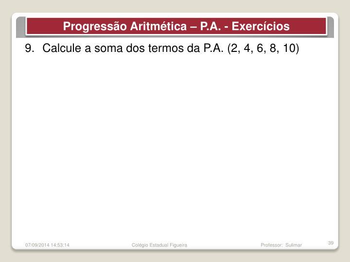 Progressão Aritmética –