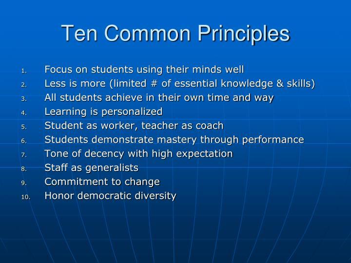 Ten Common Principles