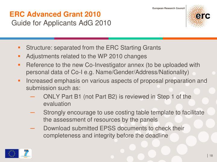 ERC Advanced Grant 2010