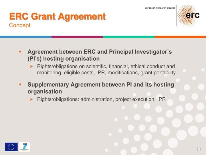 ERC Grant Agreement