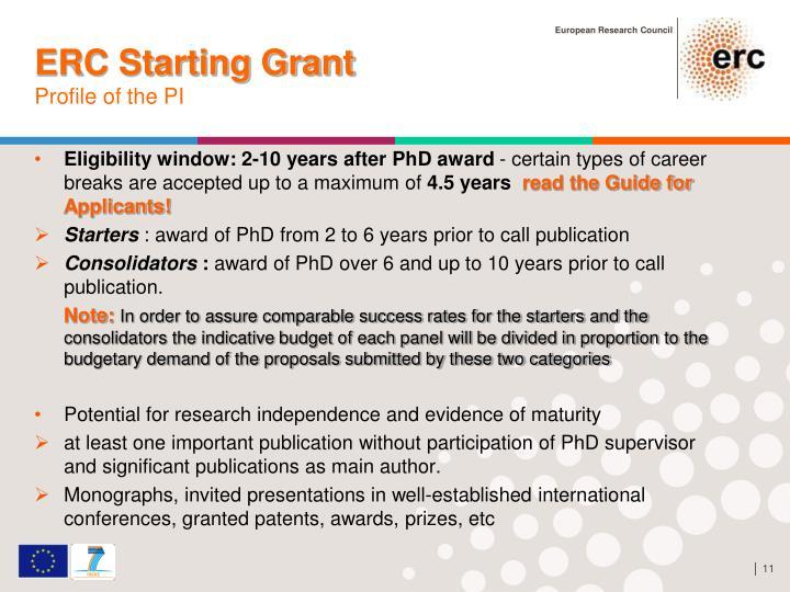 ERC Starting Grant