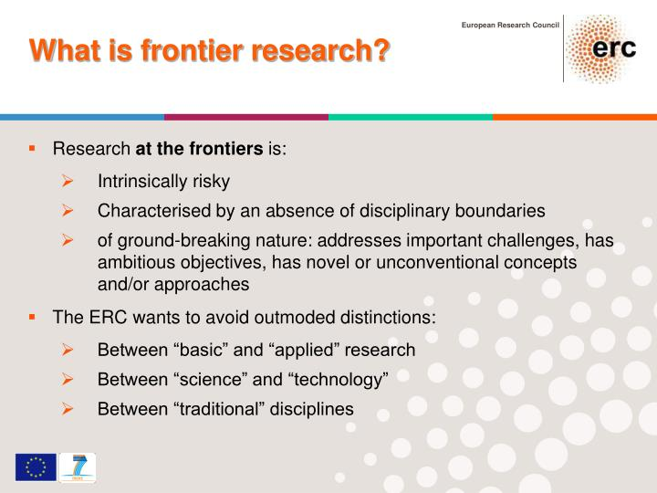 What is frontier research?