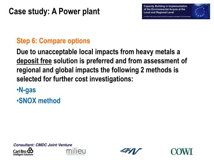 Case study: A Power plant