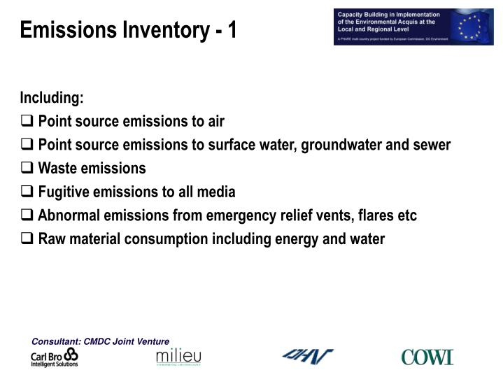 Emissions Inventory - 1