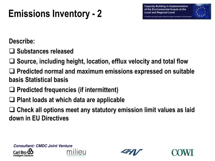 Emissions Inventory - 2
