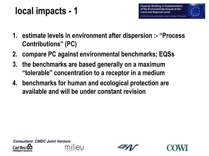 local impacts - 1