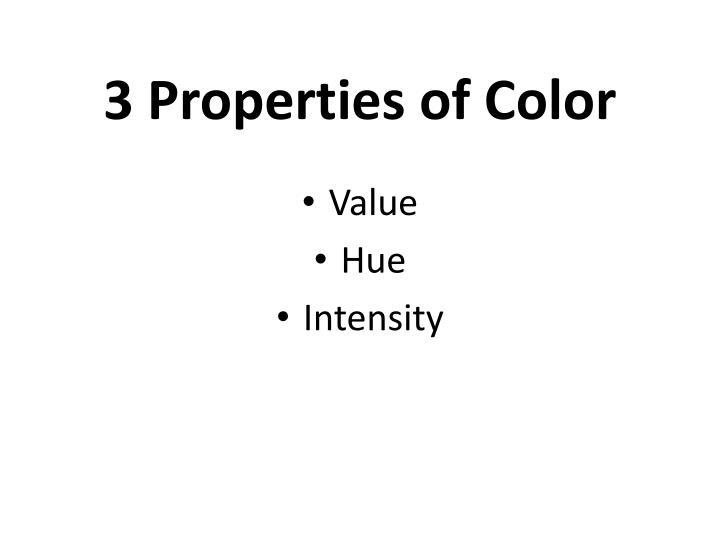 3 Properties of Color
