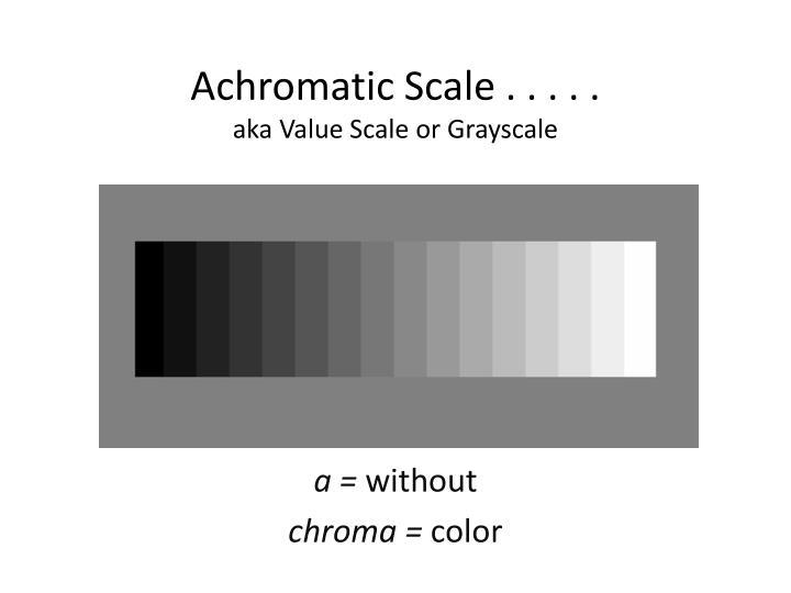 Achromatic Scale . . . . .