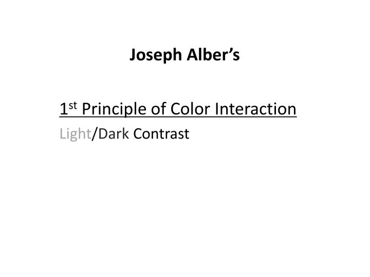 Joseph Alber's