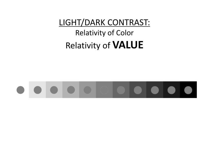 LIGHT/DARK CONTRAST: