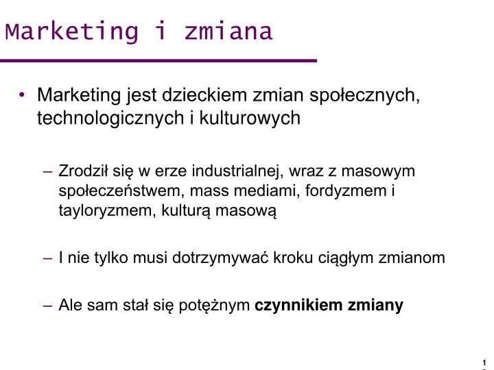 Marketing i zmiana