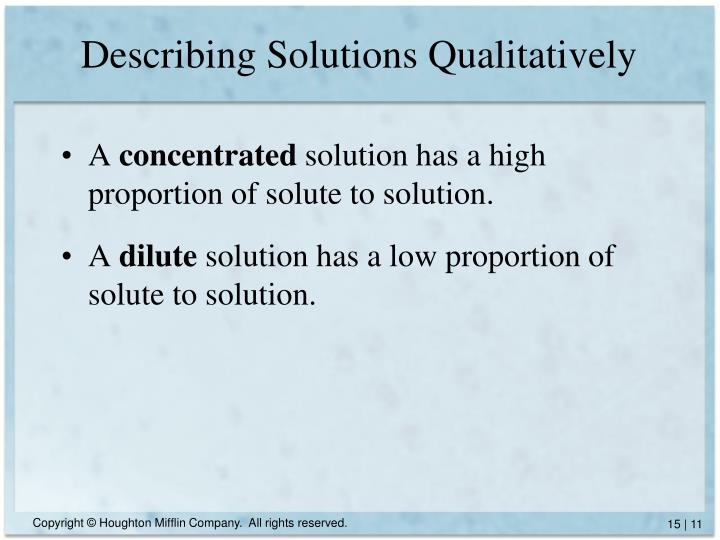 Describing Solutions Qualitatively