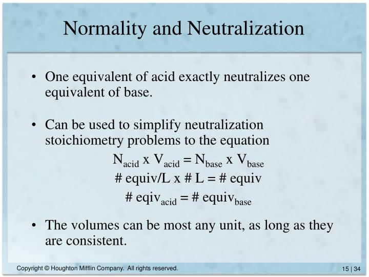 Normality and Neutralization