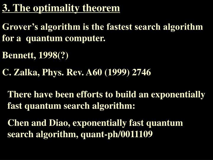 3. The optimality theorem