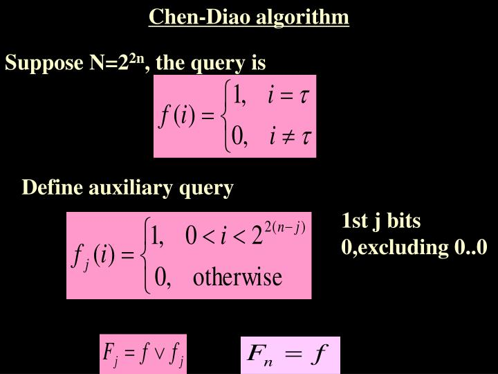 Chen-Diao algorithm