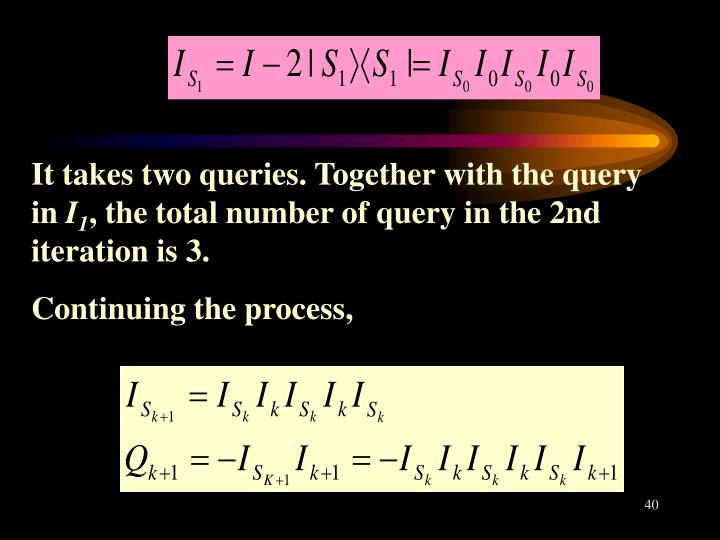 It takes two queries. Together with the query in