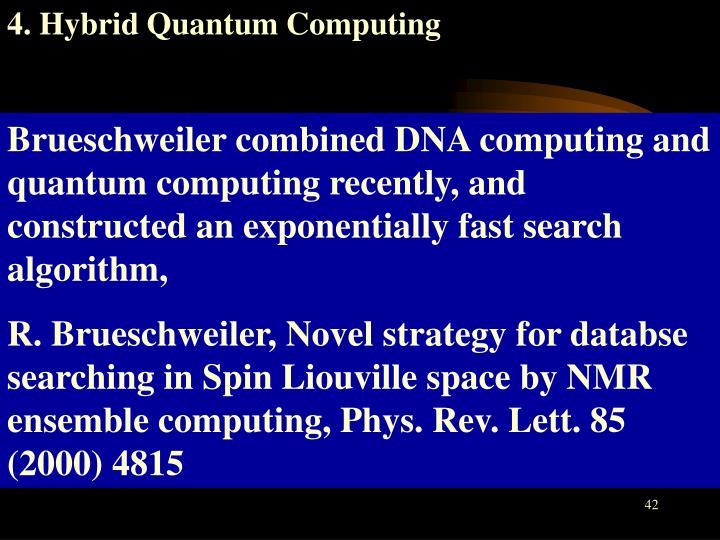 4. Hybrid Quantum Computing
