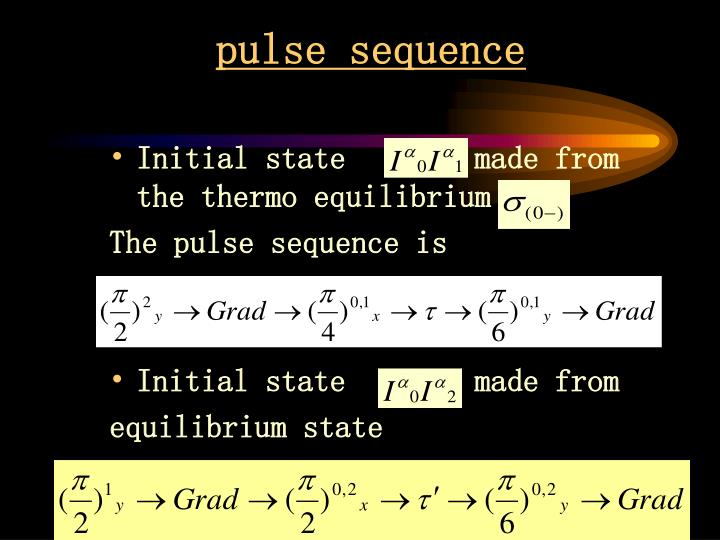 pulse sequence