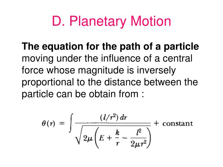 D. Planetary Motion