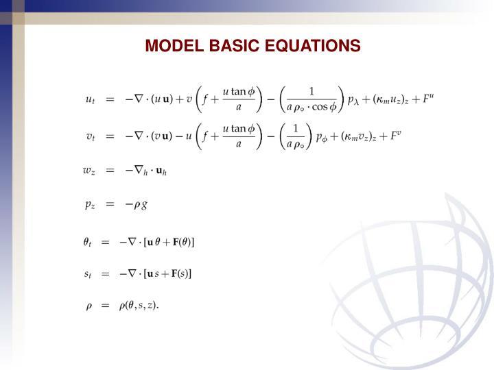 MODEL BASIC EQUATIONS