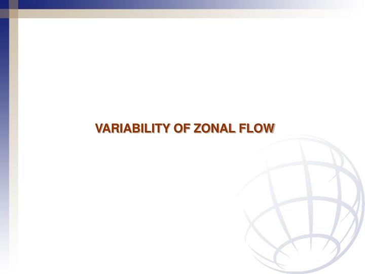 VARIABILITY OF ZONAL FLOW