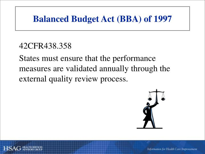 Balanced Budget Act (BBA) of 1997