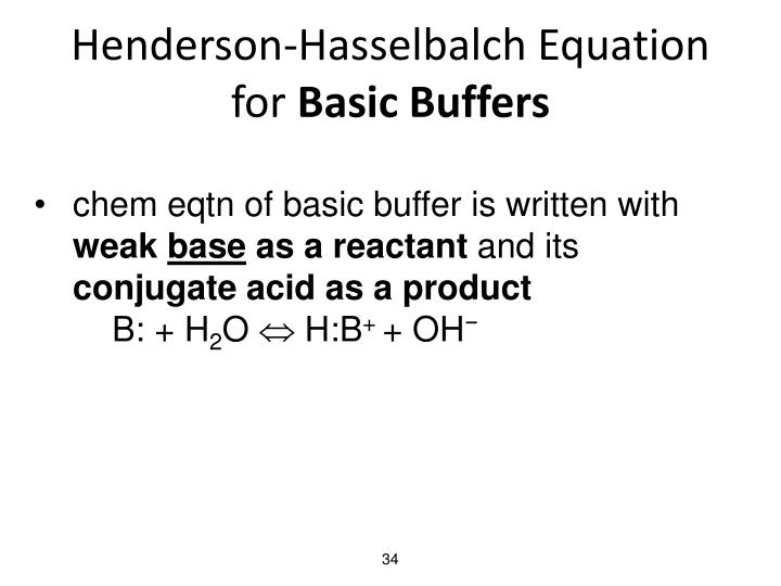 Henderson-Hasselbalch Equation for
