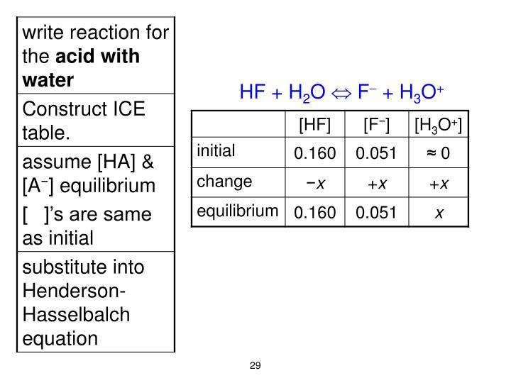 HF + H