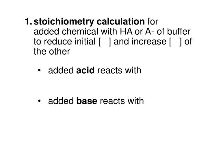 stoichiometry calculation