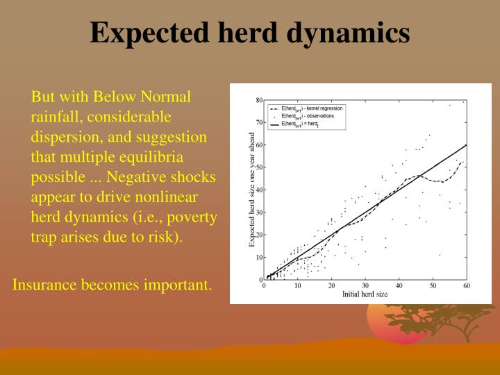 Expected herd dynamics