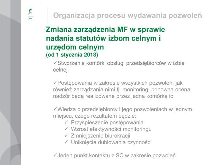 Organizacja procesu wydawania pozwoleń