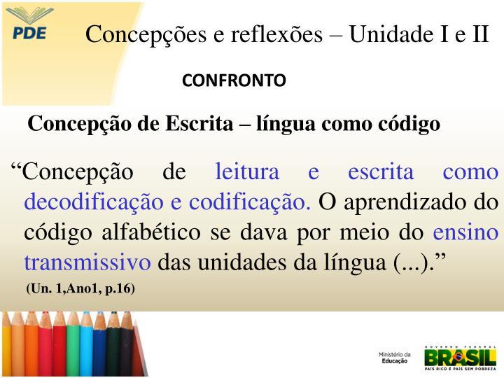 Concepção de Escrita – língua como código