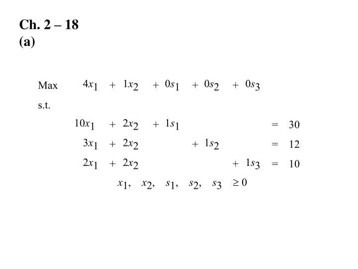 Ch. 2 – 18