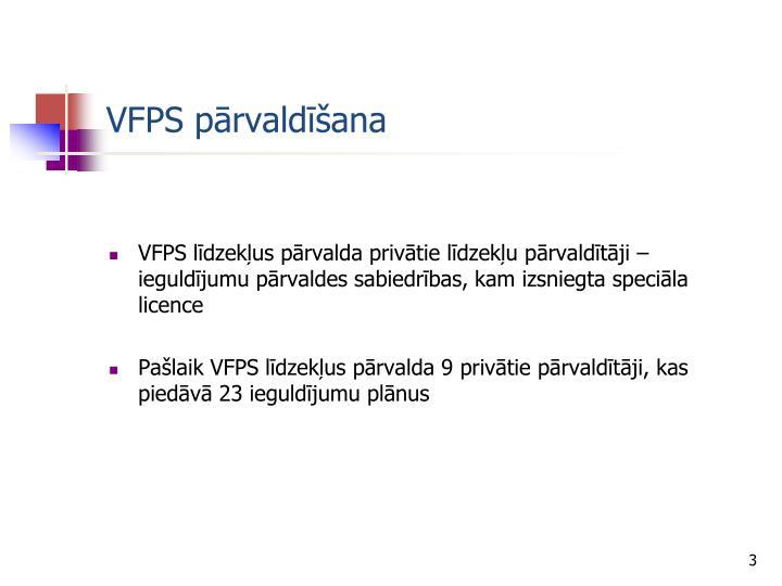 VFPS pārvaldīšana