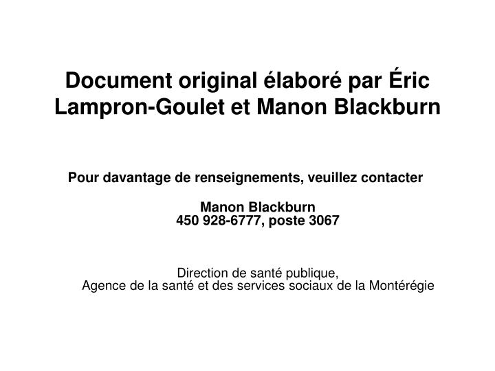 Document original labor par ric lampron goulet et manon blackburn