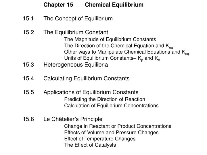 Chapter 15Chemical Equilibrium