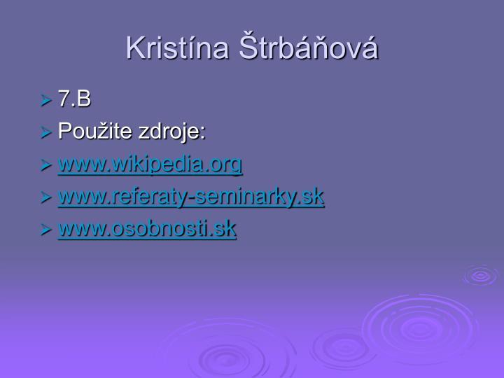Kristína Štrbáňová