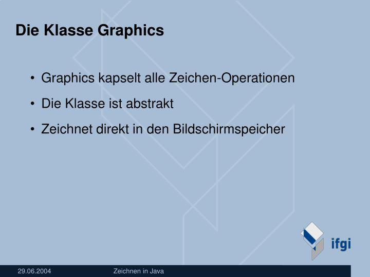 Die Klasse Graphics