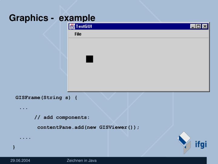 Graphics -  example