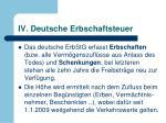 iv deutsche erbschaftsteuer